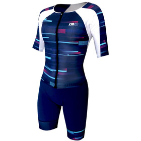 Z3R0D Racer Time Trial Trisuit Dames, revolution blue